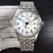 Iwc 40mm Pilot`s Mark XVIII White Dial on Bracelet Ref.IW327002