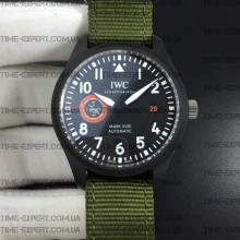Iwc 40mm Pilot`s Mark XVIII 'TOPGUN SFTI' Ceramic Green Nylon