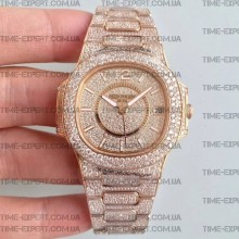 Patek Philippe Nautilus Jumbo Diamonds Gold 40mm