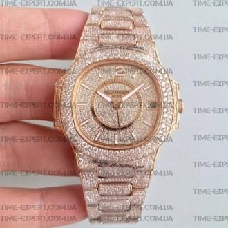 Patek Philippe Nautilus Jumbo Diamonds Gold 40mm